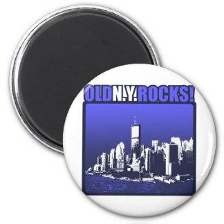 Old N.Y. Rocks! 2 Inch Round Magnet