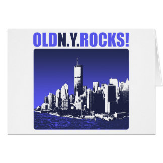 Old N.Y. Rocks! Card