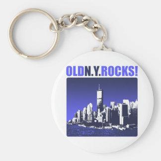 Old N.Y. Rocks! Keychain