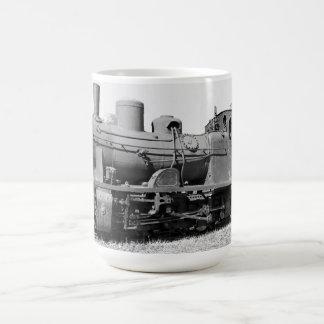 Old narrow-gauge steam engine 157-5674 classic white coffee mug