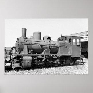 Old narrow-gauge steam engine 157-5674 poster