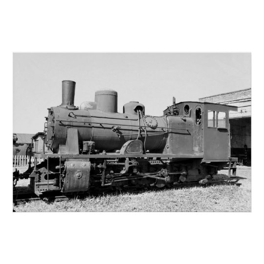 Old narrow-gauge steam engine 157-5674 poster