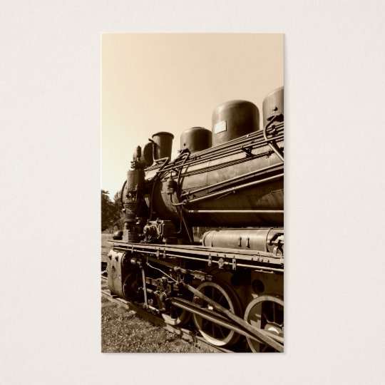 Old narrow-gauge steam engine Gr-269 Business Card