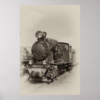 Old narrow-gauge steam engine Gr-269 Posters