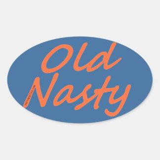Old Nasty Oval Sticker