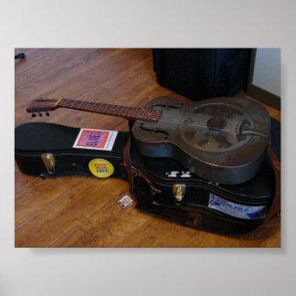 Old National Duolian Guitar Poster