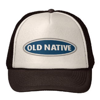 'OLD NATIVE' - Indigenous Native American hat cap