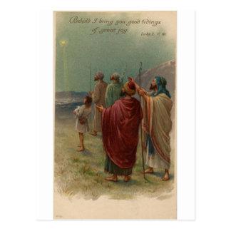 old nativity scene postcard
