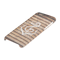 Old Nautical Anchor Wood Clear iPhone 6/6S Case
