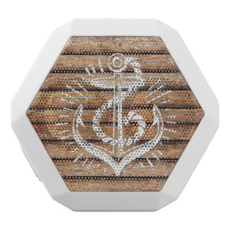 Old Nautical Anchor Wood White Bluetooth Speaker