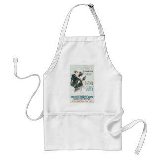 Old Navy Poster circa 1918 Adult Apron