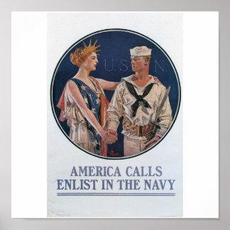 Old Navy que recluta el poster circa 1917