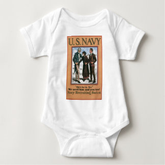 Old Navy Recruiting Poster circa 1917 Baby Bodysuit