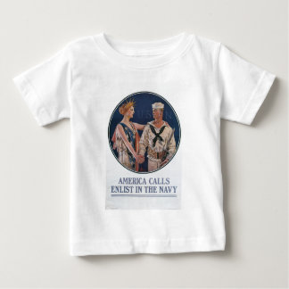 Old Navy Recruiting Poster circa 1917 Baby T-Shirt