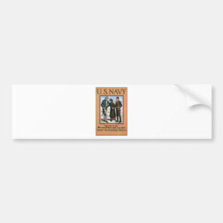 Old Navy Recruiting Poster circa 1917 Bumper Sticker