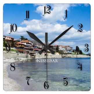 Old Nessebar. Bulgaria Square Wall Clock