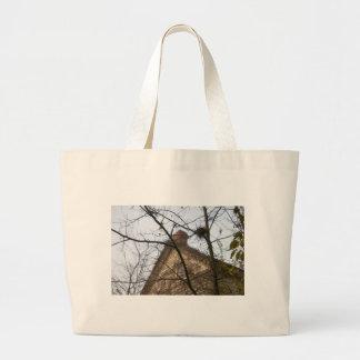 Old & New, Birds Nest & Farmhouse Jumbo Tote Bag