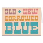 Old New Borrowed Blue Save the Date Greeting Card