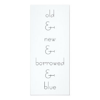 old&new&borrowed&blue, wed invite OR save the date