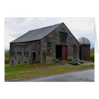 Old New England Bard Note Card