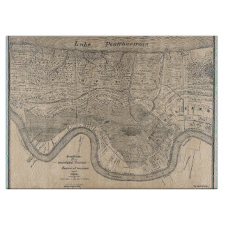 Old New Orleans  Map Cutting Board