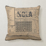 Old New Orleans MAP Pillow