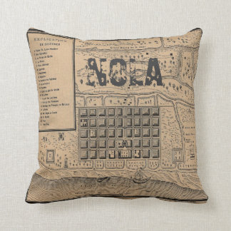 Old New Orleans MAP Throw Pillow