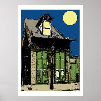 Old New Orleans Shotgun House Poster
