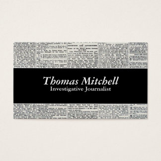 newspaper business cards templates zazzle
