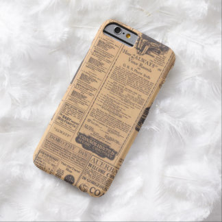 Old Newspaper Page Look Barely There iPhone 6 Case