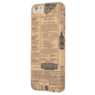 Old Newspaper Page Look Barely There iPhone 6 Plus Case