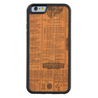 Old Newspaper Page Look Carved Cherry iPhone 6 Bumper Case