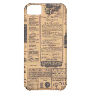 Old Newspaper Page Look iPhone 5 C Case
