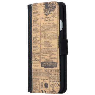 Old Newspaper Page Look iPhone 6 Wallet Case