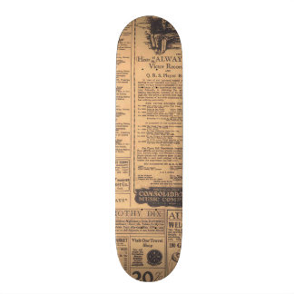 Old Newspaper Page Look Skateboard