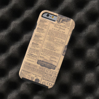 Old Newspaper Page Look Tough iPhone 6 Case
