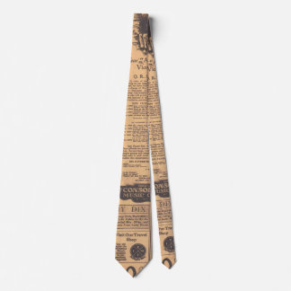 Old Newspaper Page Style Tie