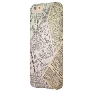 Old Newspaper Reporter Barely There iPhone 6 Plus Case