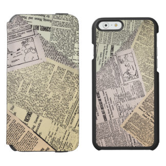 Old Newspaper Reporter iPhone 6/6s Wallet Case