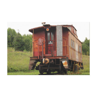 Old Norfolk and Western Railway Caboose Canvas