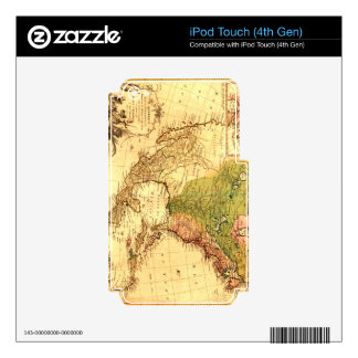 Old North American  Map iPod Touch 4G Decals