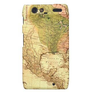 Old North American  Map Motorola Droid RAZR Case