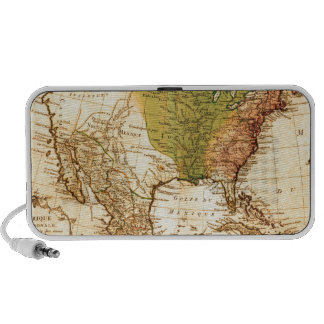 Old North American  Map Portable Speakers