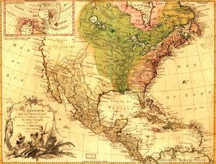 Old North America Map.North American Map Postcards Zazzle