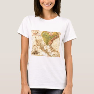 Old North American  Map T-Shirt