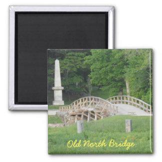Old North Bridge, Concord, MA 2 Inch Square Magnet