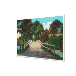 Old North Bridge View of Minute Man Statue # 2 Canvas Print