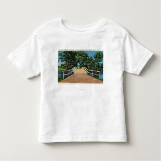 Old North Bridge View of Minute Man Statue Toddler T-shirt