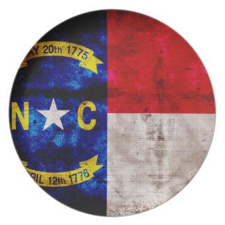 Old North Carolina Flag; Plates