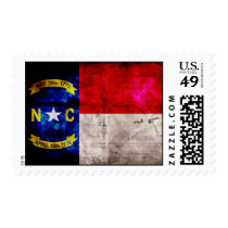 Old North Carolina Flag; Postage